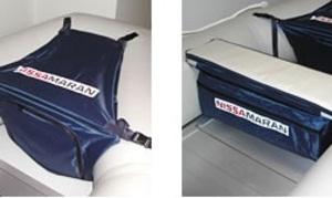 подушка с сумками для лодки