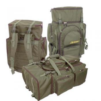 Рыбацкий рюкзак - сумка.  2 секции, 5 наружных карманов.  В верхней секции можно разместить 3 аксессуарные коробки...